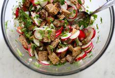 Radish Panzanella // Food Loves Writing -- a bread salad to showcase the radish