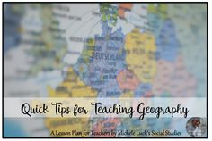 Quick Start Ideas for the Geography Classroom - Part of the Quick Tips for Teaching Geography Series Geography Classroom, Teaching Geography, Social Studies Classroom, Effective Learning, Teacher Lesson Plans, Frame Of Mind, History Class, World Music, Do You Remember