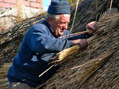 THE THATCHER Covering a house with a roof of straw, reeds or heather is a tradition that has existed in Ireland for 9,000 years.