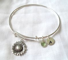Alex and Ani Style Sunflower Bracelet  by TheBlueEyedBeader, $28.00