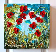 Inside Looking Out. . Poppies  mini floral by CreativeWomanhood, $75.00