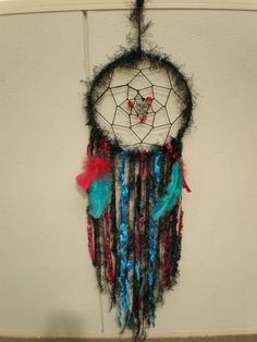 Something a little different in black, red and turquoise. This one is still for sale on Etsy.com.