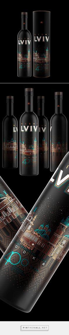 Night Lviv vodka packaging design by Umbra design studio - http://www.packagingoftheworld.com/2017/08/night-lviv.html