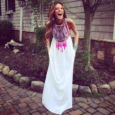 Shop Now: Mara Hoffman - Mirror Embroidered Maxi Dress
