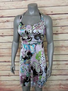 B. Darlin cross back sleeveless paisley dress size 7/8 casual wear to work #BDarlin #Shift #Casual