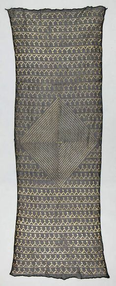 Africa   Shawl from Asyut, Upper Egypt   ca. 1900 - 1930   Netted cotton and silver