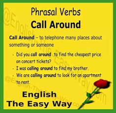 I will ________ for a good price. 1. call around 2. look around 3. both #PhrasalVerb