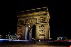 L'Arc de Triomphe at night. | Paris Travel