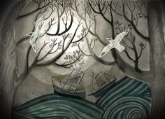 Sail away in Winters Forest'  By Anouk and the Pencils