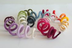 Cat toy/felted cat toy spiral by elevele on Etsy