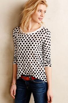 I have a major weakness for polka dots. The surprise asymmetrical back is wonderful as well!