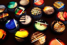 fantastic circular Glimpse lamps by Koush Design Artworks, Lamps, Objects, Interiors, Lights, Led, Group, Design, Decor