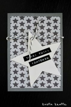Kuistin kautta: Joulukalenteri 4/24: Joulukortti 2012 Christmas Fair Ideas, Merry Christmas To You, Diy Christmas Cards, Christmas Deco, Christmas Crafts, Xmas, Paper Cards, Diy Cards, Star Cards
