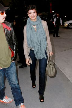 Morena Baccarin - Stars Arrive at the Lakers Game in LA