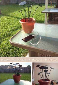 How To Make A Solar Shrub