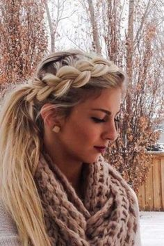 Riding the braid wave? With these step-by-step instructions, you'll nail down 15 gorgeous braid styles in no time - Looking for Hair Extensions to refresh your hair look instantly? focus on offering premium quality remy clip in hair. Cute Ponytail Hairstyles, Cute Ponytails, 2015 Hairstyles, Winter Hairstyles, Pretty Hairstyles, Hairstyle Ideas, Hair Ideas, Braids Into Ponytail, Wedding Hairstyles