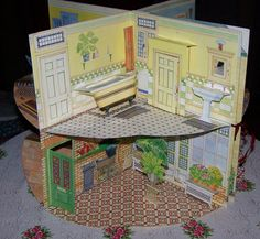 mcloughlin folding doll house | bought these for Gracie when she was young, not to play with but to ...