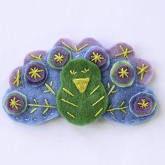 Peacock Felt Pattern | Creative Cain Cabin