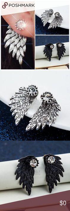 Spotted while shopping on Poshmark: NIP Angel Wing Ear Jacket Rhinestone Stud! #poshmark #fashion #shopping #style #Dragonfly Designs #Jewelry