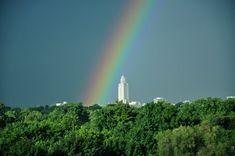 Early morning rainbow in Lincoln, Nebraska - August 2011