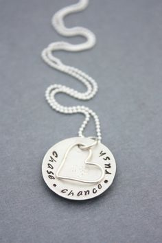 Hand Stamped Jewelry Personalized Cupped by MeaningfulMemory,