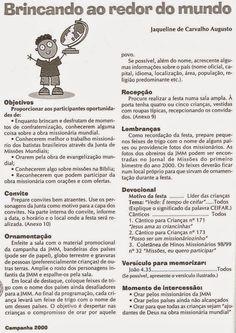 Fonte : REVISTA DE MISSÕES DE CRIANÇAS.