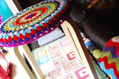 I love these stool seat covers!