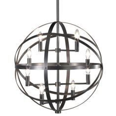 OFFICE/GST BEDROOM Lucy Pendant by Robert Abbey DARK ANT NICEL OR DEEP PATINA BRONZE, 22 DIA, 38.76 H $572