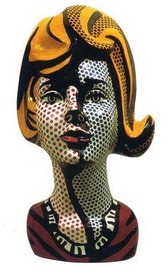 Painted Ceramic Sculpture by Roy Lichtenstein