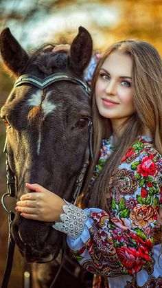Models, Bohemian, Horses, Amazing, Floral, Animals, Beautiful, Woman, Style