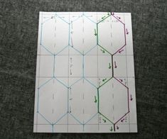 Elongated hexagon/honeycomb quilting tut  FITF: Tutorials | Film in the Fridge