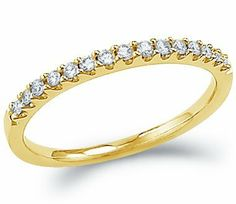 14k Yellow OR White Gold Round Cut Diamond Ladies Womens Channel Set Wedding or Anniversary 2mm Ring Band (.15 cttw) Sonia Jewels. $259.00
