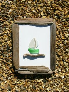 Driftwood and sea glass picture. £28.00, via Etsy.