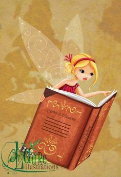 illustration de fées pour les cartes citation