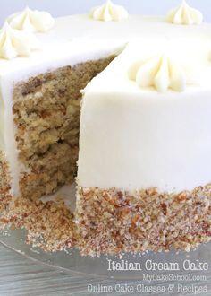 DELICIOUS Scratch Italian Cream Cake Recipe by MyCakeSchool.com! Online Cake…