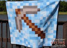 No longer available via Etsy.   Minecraft Quilt by DarlingMushroom   Www.darlingmushroom.com