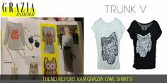 Owl trend! Shop unique sequin shirt at trunkv.com
