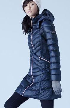 Bernardo Hooded Down & PrimaLoft® Fill Coat (Regular & Petite)   Nordstrom