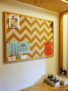plain jane: diy chevron corkboard and Vrsi Mulo