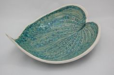 Green Leaf Fruit Bowl Wedding Gift by REDceramics on Etsy, £17.50