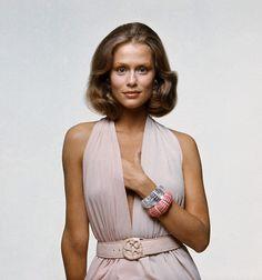 https://flic.kr/p/8TqKeF | November 1971 | Lauren is wearing a long slashed halter dress.  Image by Condé Nast Archive/Corbis