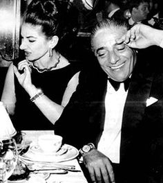 maria callas & aristote onasis……..THE LOOK ON HER FACE TELLS ALL OF HER FEELINGS FOR JACKIE O …..ARI THOUGHT IT WAS HILARIOUS……………..ccp