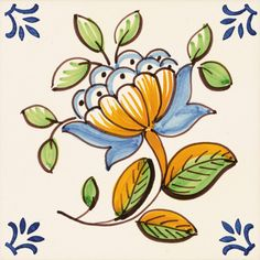 Glass Painting Designs, Paint Designs, Saree Painting, Painting & Drawing, Monster Drawing, Delft Tiles, Art Populaire, Tile Crafts, Portuguese Tiles
