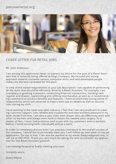 cover letter for retail jobs job cover letter