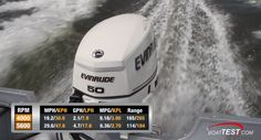 Evinrude E-TEC 50-hp: Evinrude's E-TEC 50-hp engine is designed for many applications, prominent among which are small aluminum boats. The weight of the aluminum boat in the above test has a dry weight of 895 lbs. (406 kg.).