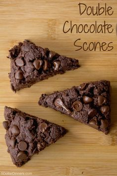 Double Chocolate Scones ~ You had me at chocolate! |  5DollarDinners.com