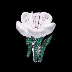 White gold Rubellites Diamond Ring G34LR100 - Piaget Luxury Jewelry Online