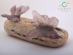 Doğadan donmuş bir an... Kelebeklerin doğayla dansı butterfly kiln casting  warm glass art, glass butterfly , decoration