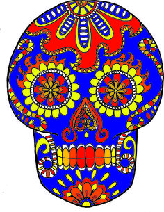 DAY OF THE DEAD COLORING SHEETS FROM LUCID PUBLISHING'S SUGAR SKULL COLORING BOOK