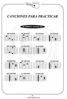 Guitar Chord Chart, Guitar Chords, Music Theory Lessons, Guitar Classes, Guitar Tutorial, Playing Guitar, Sheet Music, Singing, Learning